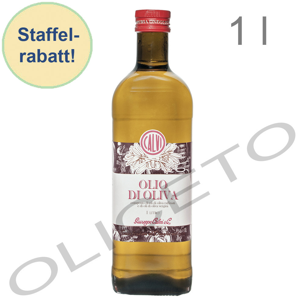 brat l olio di oliva 1 liter delikates reines oliven l zum braten und kochen calvi oliceto. Black Bedroom Furniture Sets. Home Design Ideas