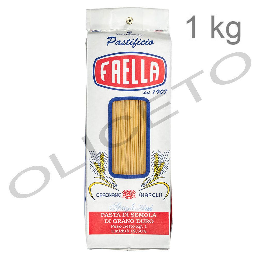Spaghettini igp 1 kg pastificio faella gragnano bei for Cucinare 1 kg di pasta