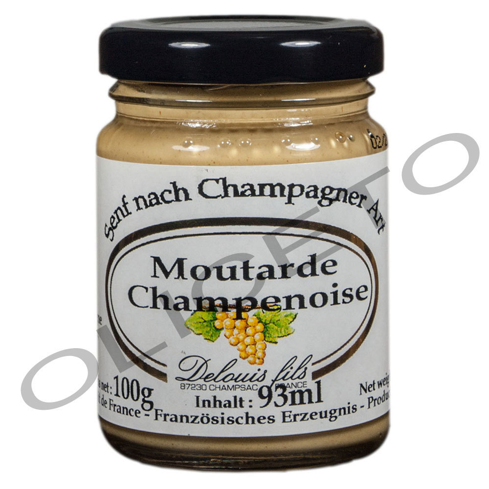 Senf mit Champagner 93 ml Moutarde Champenoise - Delouis fils