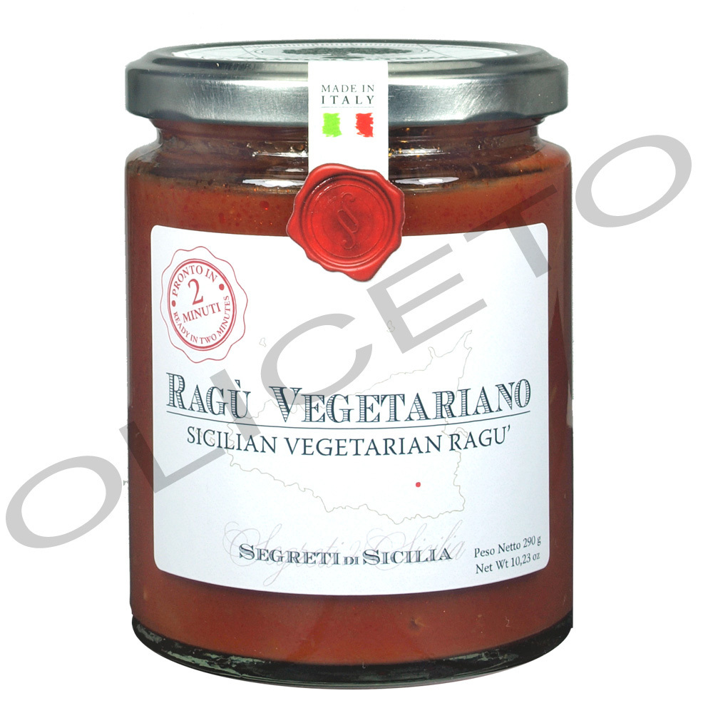 Ragù Vegetariano 260 ml Glas - sizilianisches, vegetarisches Ragù - Cutrera
