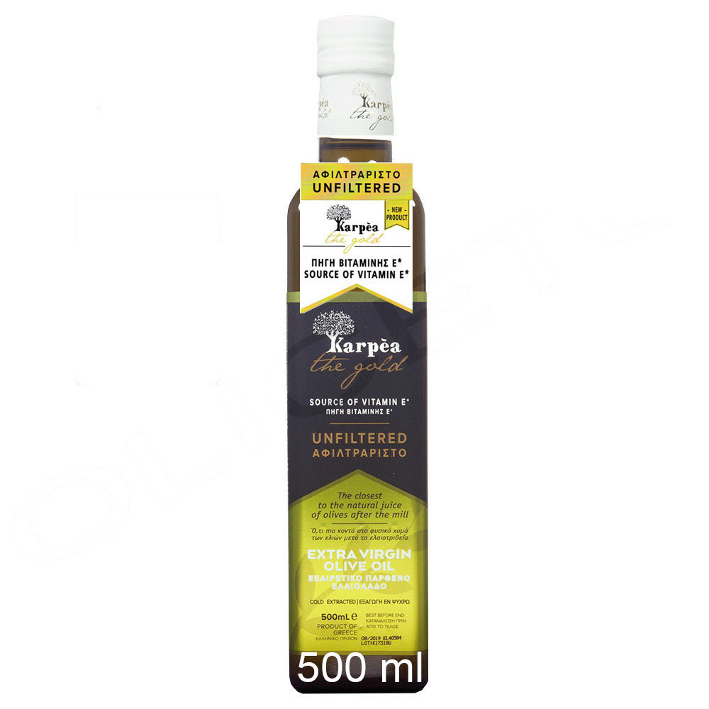 The Gold - naturtrübes natives Olivenöl Extra 500 ml - Karpea