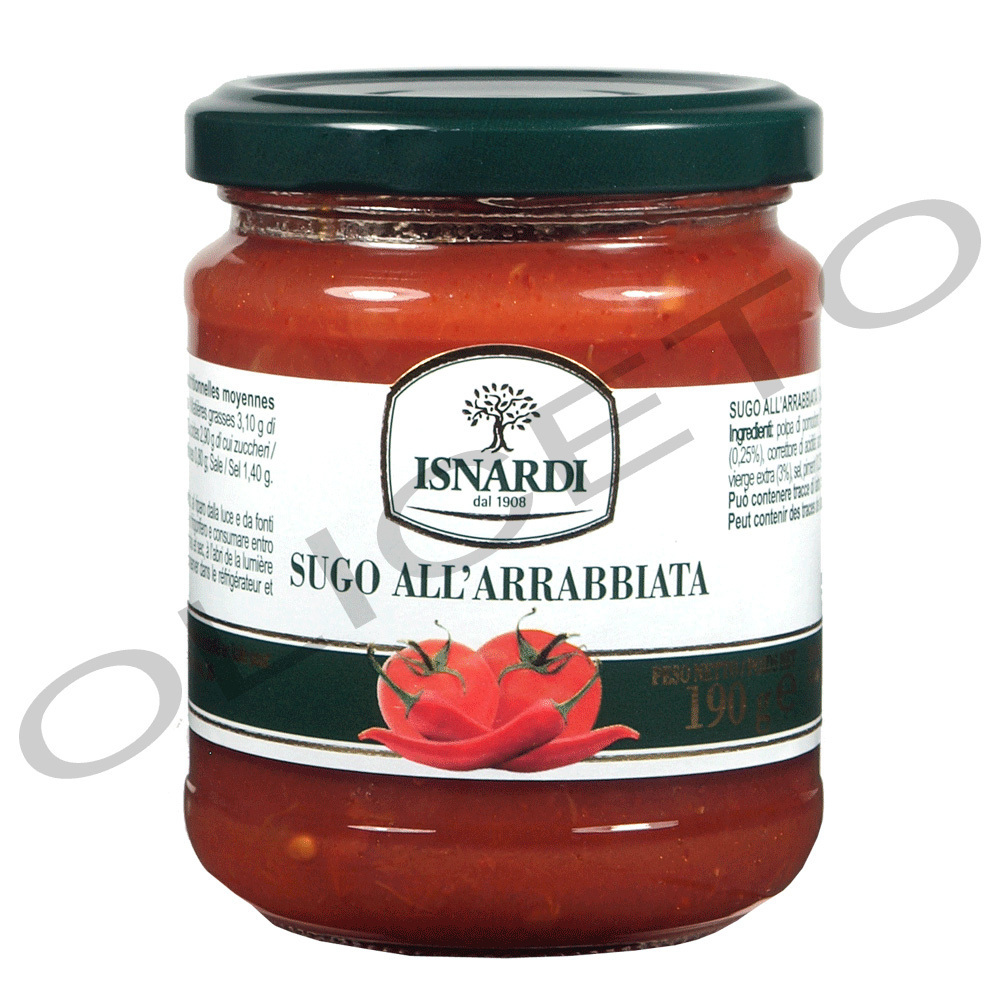 Sugo all'arrabbiata - Tomatensauce mit Chili 220 ml Glas - Isnardi