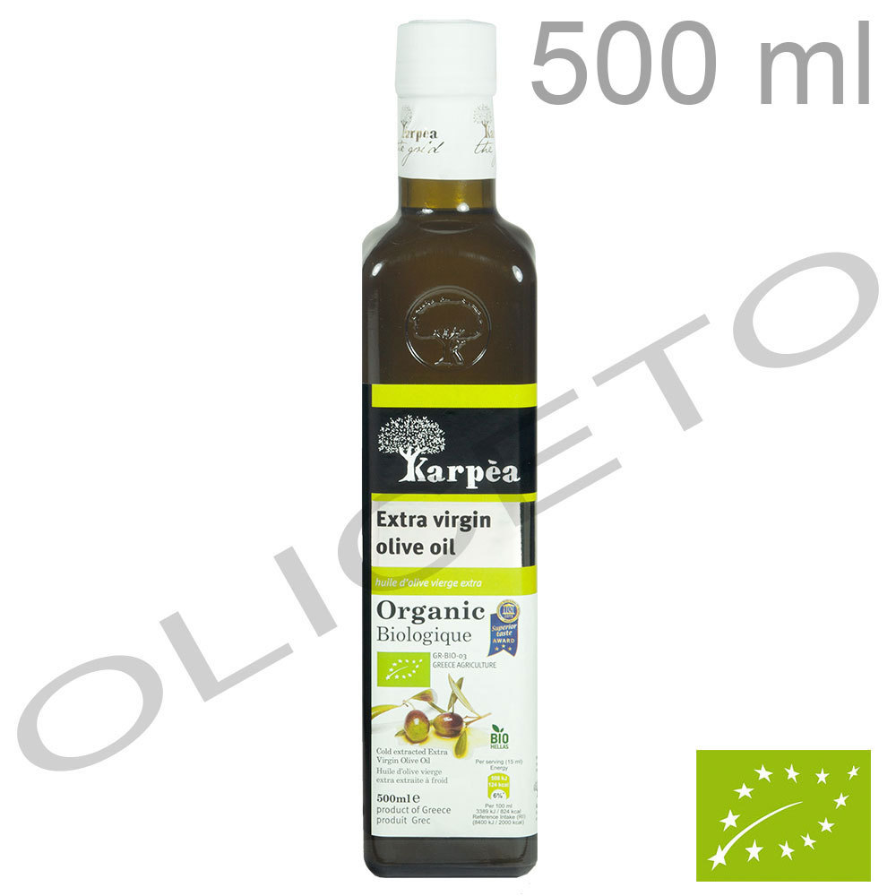 Organic Bio natives Olivenöl Extra 500 ml - Karpea